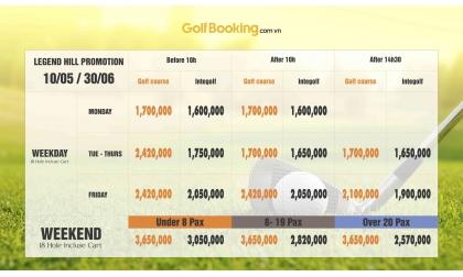 [PROMOTION - LEGEND HILL] Cập nhật khuyến mại tháng 5 và 6 sân golf LEGEND HILL