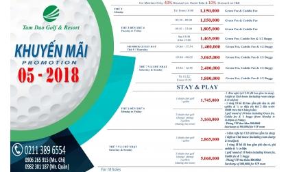 [PROMOTION - TAM DAO GOLF CLUB]  Khuyến mại THÁNG 5 Đặt sân tam đảo - Tam Đảo Golf Course Promotion